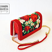 Сумки и аксессуары handmade. Livemaster - original item Exclusive clutch bag handmade beaded Westy