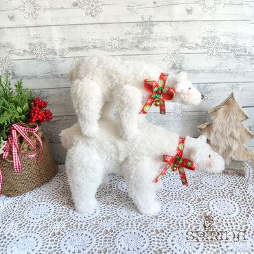 Куклы и игрушки ручной работы. Ярмарка Мастеров - ручная работа Белые мишки Тильда. Handmade.