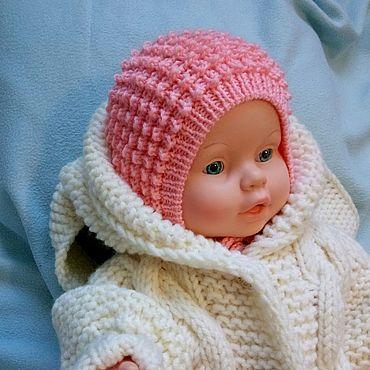 Одежда ручной работы. Ярмарка Мастеров - ручная работа Чепчик для новорожденного чепчик на выписку шапочка для ребенка.. Handmade.