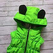Верхняя одежда ручной работы. Ярмарка Мастеров - ручная работа Верхняя одежда: Жилет детский утепленный Gummy Bear. Handmade.
