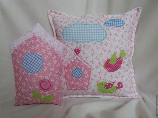 Детская ручной работы. Ярмарка Мастеров - ручная работа. Купить Набор подушек для детской. Handmade. Комбинированный, декоративная подушка
