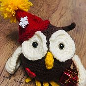 Мягкие игрушки ручной работы. Ярмарка Мастеров - ручная работа Сова с подарком. Handmade.
