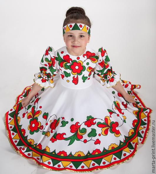 русский костюм, русский сарафан, русская рубаха, танцевальный костюм, костюм для выступлений, матрешка Russian national costume Russian folk dance dress