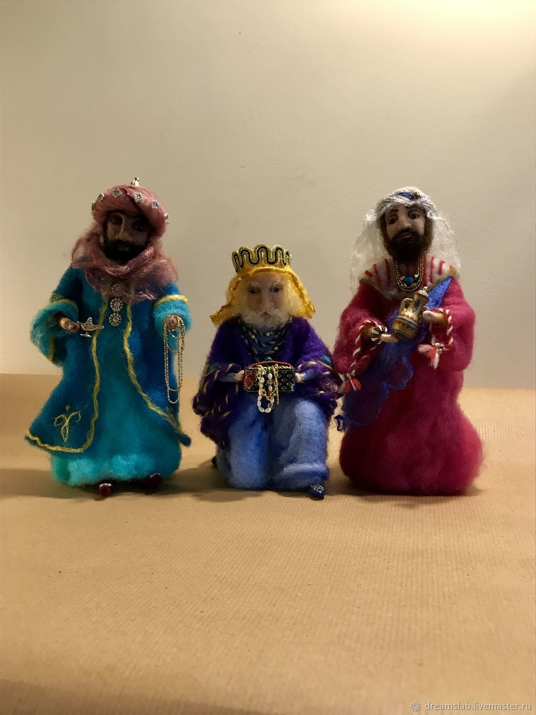 Коллекционные куклы ручной работы. Ярмарка Мастеров - ручная работа. Купить Валяние Библейские сюжеты Три волхва. Handmade. Валяние