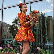 """Одежда ручной работы. Ярмарка Мастеров - ручная работа Платье """"Хохлома"""". Handmade."""