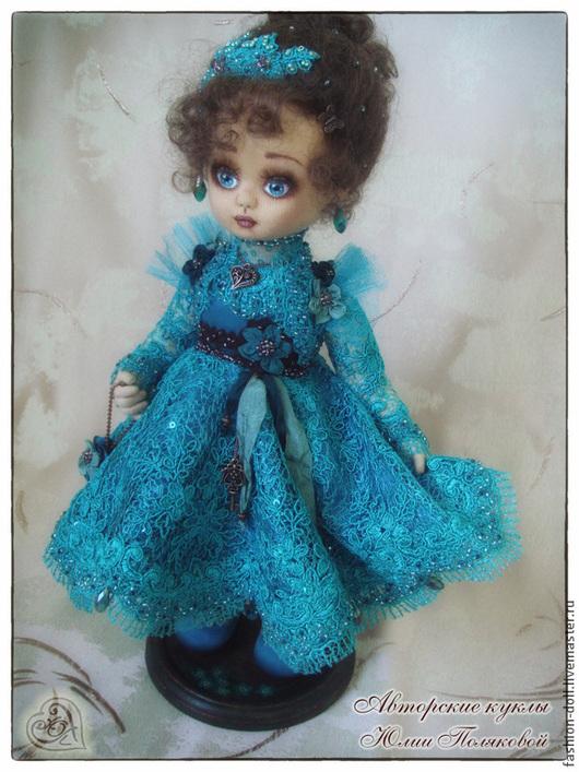 Коллекционные куклы ручной работы. Ярмарка Мастеров - ручная работа. Купить Текстильная кукла Незабудка. Handmade. Морская волна