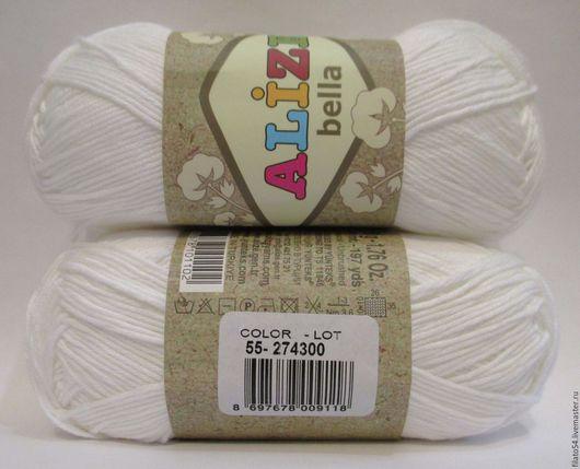 Bella, Alize, Турция  color 55 Белый  пряжа Белла Ализе