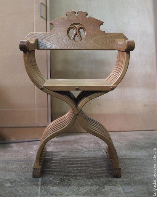 Мебель ручной работы. Ярмарка Мастеров - ручная работа. Купить Кресло Савонаролы. Handmade. Бежевый, кресло савонаролы, складной стул