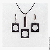 Украшения handmade. Livemaster - original item Jewelry set made of ebony.. Handmade.