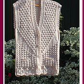 Одежда ручной работы. Ярмарка Мастеров - ручная работа Жилет женский,жилет вязаный. Handmade.