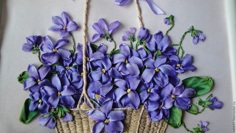 Вышивка лентами цветов 26