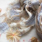 Аксессуары handmade. Livemaster - original item Italian linen scarf