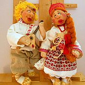 """Свадебный салон ручной работы. Ярмарка Мастеров - ручная работа Свадебные куклы """"Неразлучники"""". Handmade."""