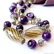 Украшения handmade. Livemaster - original item Amethyst beads. Handmade.