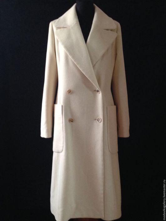 Верхняя одежда ручной работы. Ярмарка Мастеров - ручная работа. Купить Пальто молочного цвета из ангоры. Handmade. Пальто женское