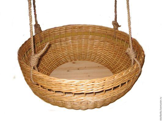 Для новорожденных, ручной работы. Ярмарка Мастеров - ручная работа. Купить Подвесная люлька колыбель из натуральной лозы, экологичная.. Handmade.