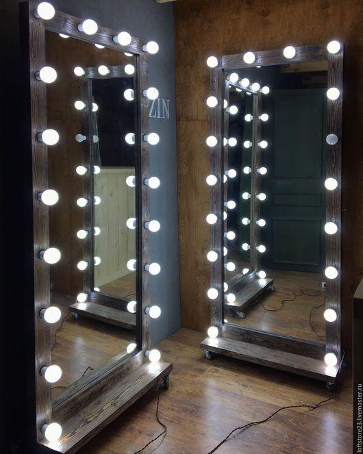 Зеркала ручной работы. Ярмарка Мастеров - ручная работа. Купить Зеркало DARK WOOD. Размер 180 см на 80 см.. Handmade.