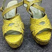 Обувь ручной работы handmade. Livemaster - original item Women`s platform sandals, Python skin.. Handmade.