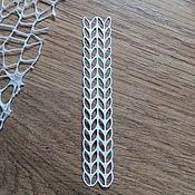 Материалы для творчества handmade. Livemaster - original item !Cutting for scrapbooking Background cutting - PIGTAIL knitted diz cardboard. Handmade.