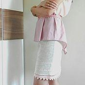 """Одежда ручной работы. Ярмарка Мастеров - ручная работа женская вязаная юбка """"Малиновый зефир"""". Handmade."""