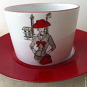 """Посуда ручной работы. Ярмарка Мастеров - ручная работа Чайная пара """"Belle de Paris"""". Handmade."""