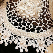 """Одежда ручной работы. Ярмарка Мастеров - ручная работа Болеро """"Cream Piaget"""" от Olga Lace. Крем Пьяже- ароматная роза. Handmade."""