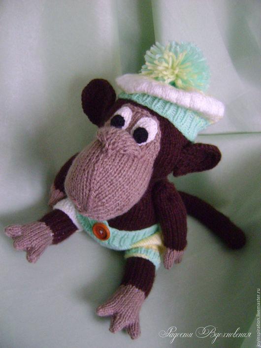 Игрушки животные, ручной работы. Ярмарка Мастеров - ручная работа. Купить Вязаная обезьяна. Handmade. Комбинированный, обезьянка игрушка