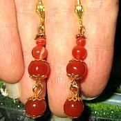 Украшения handmade. Livemaster - original item Beautiful long earrings with Carnelian