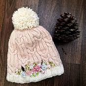 Шапка ручной работы. Ярмарка Мастеров - ручная работа Вязанная шапочка для девочки. 48-50 см. Handmade.