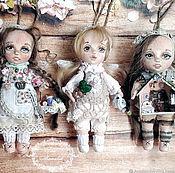 Куклы и пупсы ручной работы. Ярмарка Мастеров - ручная работа Феи- хранители домашнего уюта(мини куколки). Handmade.