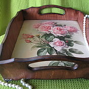 Для дома и интерьера handmade. Livemaster - original item Tray Roses. Handmade.