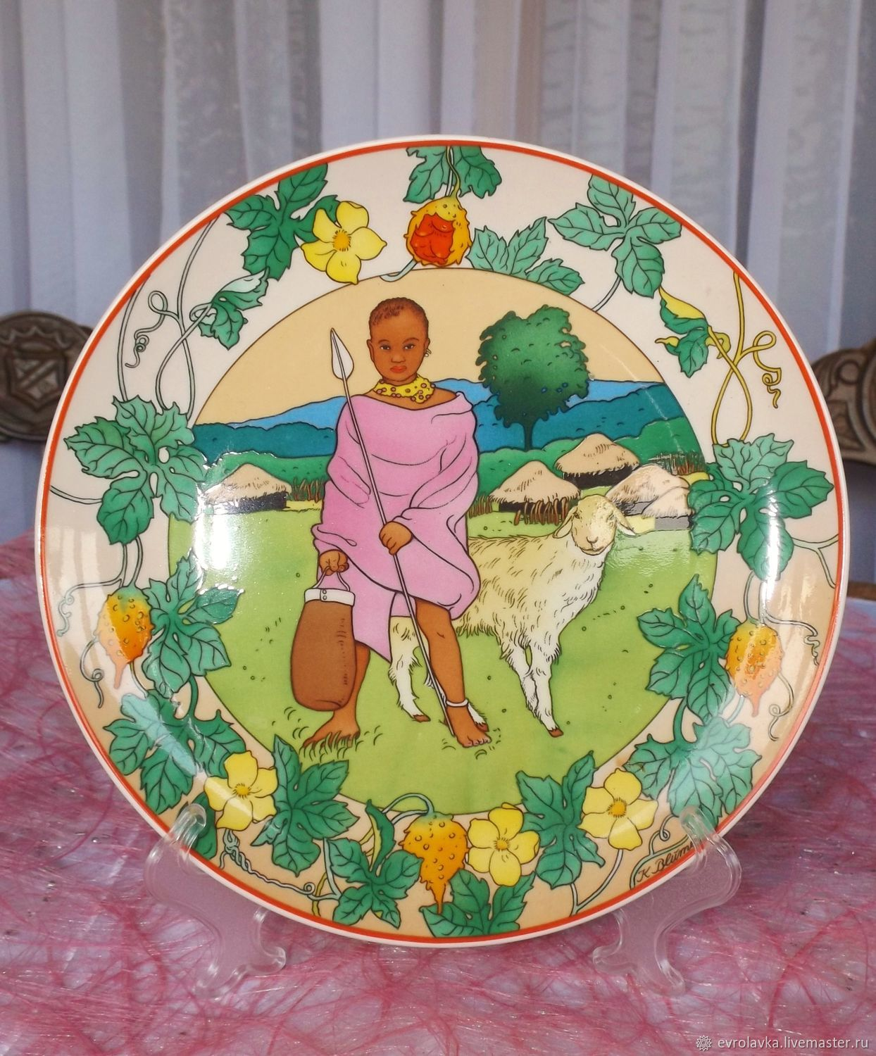 Collector's plate (Our children) from Villeroy & Boch, Germany, Vintage interior, Trier,  Фото №1