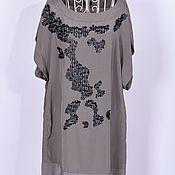 Винтаж handmade. Livemaster - original item Loose dress with an original pattern. R. .46. Handmade.