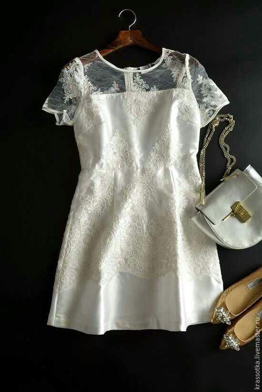 Платья ручной работы. Ярмарка Мастеров - ручная работа. Купить Платье кружевное белое. Handmade. Белый, Платье белое, скидка