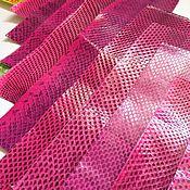 Материалы для творчества ручной работы. Ярмарка Мастеров - ручная работа Лоскуты кожи змеи пр01. Handmade.