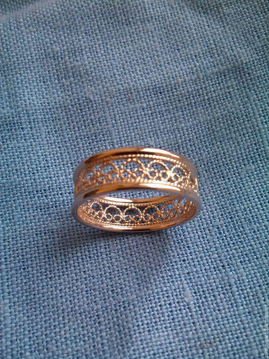 """Кольца ручной работы. Ярмарка Мастеров - ручная работа. Купить кольцо филигранное """"Ажур"""". Handmade. Филигранное кольцо, золотое кольцо"""