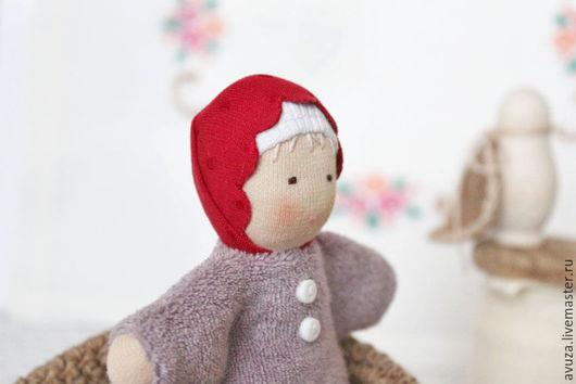 """Вальдорфская игрушка ручной работы. Ярмарка Мастеров - ручная работа. Купить Кукла ручной работы """"Ягодка"""". Handmade. Бледно-сиреневый"""