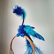 Тедди Зверята ручной работы. Ярмарка Мастеров - ручная работа Синяя птица. Игрушка из перьев. Handmade.