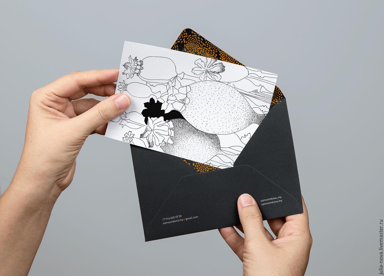 макет открытки сверстать можно ходить