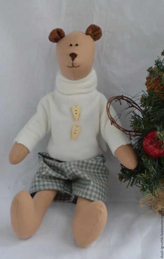 Куклы Тильды ручной работы. Ярмарка Мастеров - ручная работа. Купить Мишка. Handmade. Комбинированный, мишка ручной работы
