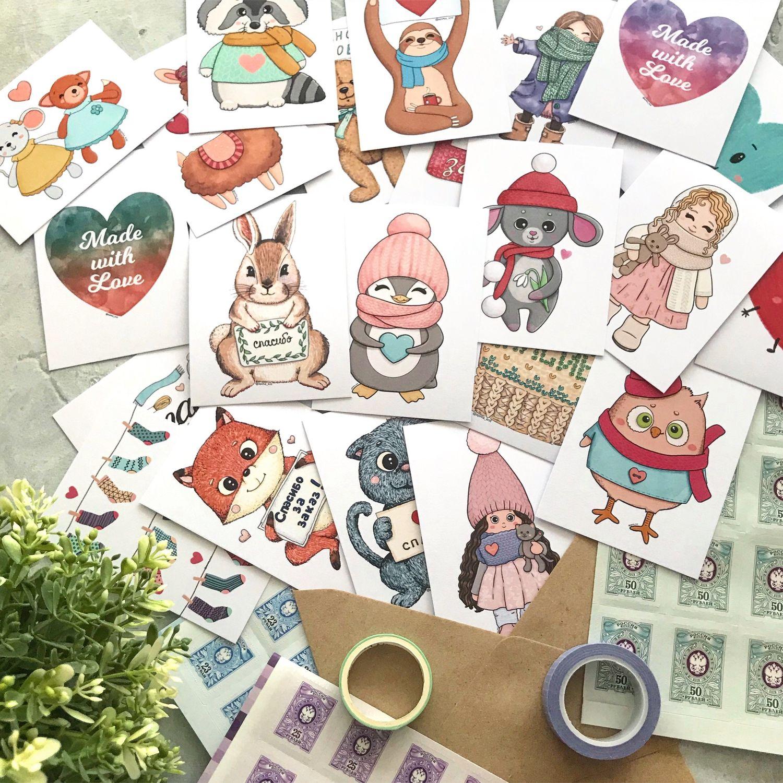 Мини-открытки для рукодельниц, Канцелярские товары, Екатеринбург,  Фото №1