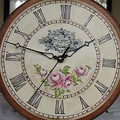 Для дома и интерьера ручной работы. Ярмарка Мастеров - ручная работа Настенные часы Rose de Provence. Handmade.