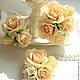 """Свадебные украшения ручной работы. Заказать Зажим с розами и сиренью """"Ангел"""". Заколка с цветами. Fleurs de Natali (Швецова Наталья). Ярмарка Мастеров."""