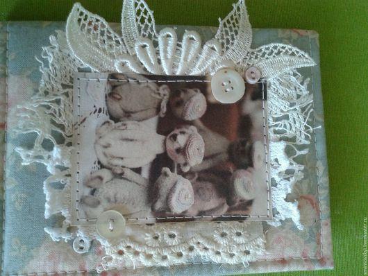 """Обложки ручной работы. Ярмарка Мастеров - ручная работа. Купить Обложка на паспорт """"Мишки"""". Handmade. Комбинированный, паспортная обложка, цветы"""
