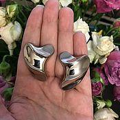 Винтаж handmade. Livemaster - original item Gorgeous Large clip-on earrings - the Wave. Handmade.