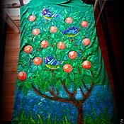 Одежда ручной работы. Ярмарка Мастеров - ручная работа Платье - туника Жители мандаринового дерева. Handmade.