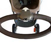 Подушка для кормления ручной работы. Ярмарка Мастеров - ручная работа Кожаный чехол на руль stokke xplory. Handmade.