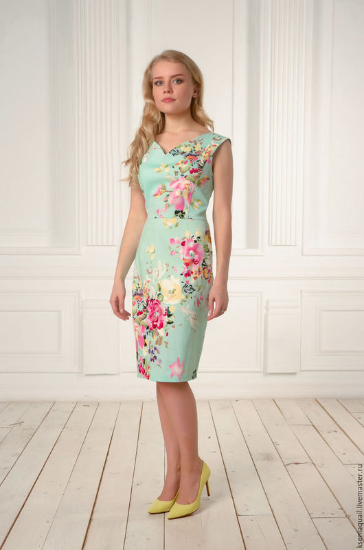 """Платья ручной работы. Ярмарка Мастеров - ручная работа. Купить Платье """"Цветочный вальс""""-2. Handmade. Мятный, красивое плать"""