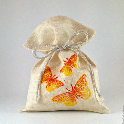 Подарочная упаковка ручной работы. Ярмарка Мастеров - ручная работа. Купить Мешочки Бабочки. Handmade. Упаковка, упаковка для мыла