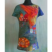 Одежда ручной работы. Ярмарка Мастеров - ручная работа Волшебный город туника из мериносовой шерсти. Handmade.